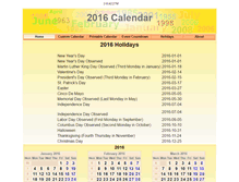 Tablet Preview of 2016calendar.org